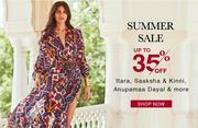 Summer Sale: Upto 35% Off on Designer Womens Clothing - Aza Fashions